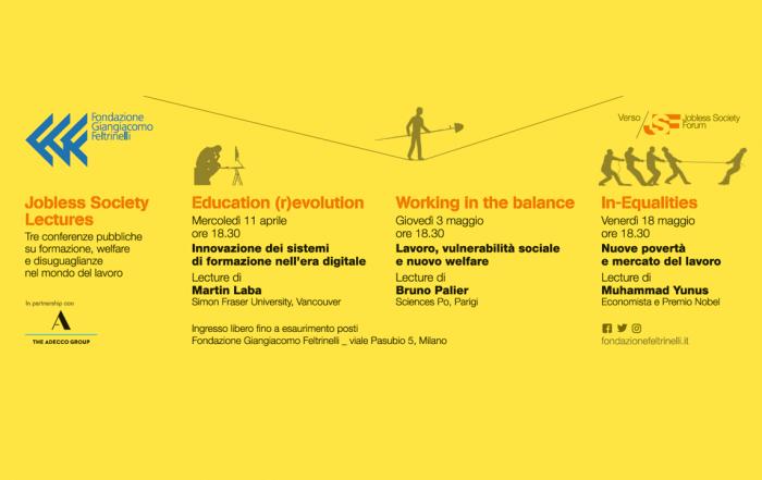 Jobless Society Lectures: tre incontri sul formazione, welfare e nuove povertà